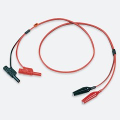 GW Instek GTL-204A Test Lead, Banana to Alligator, European Terminal, Max. Current 10A, 1000mm