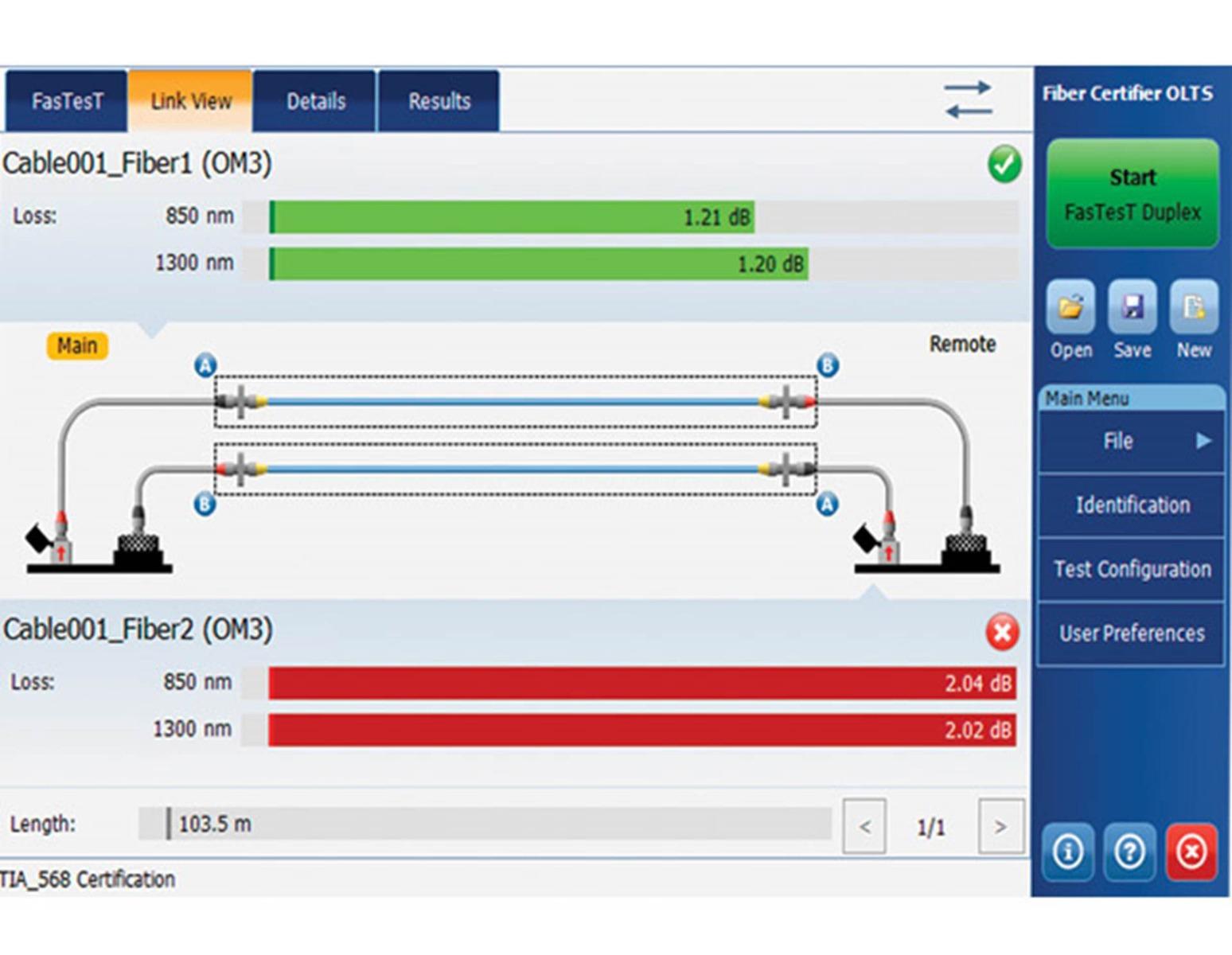EXFO FTBx-945 Fiber Certifier OLTS