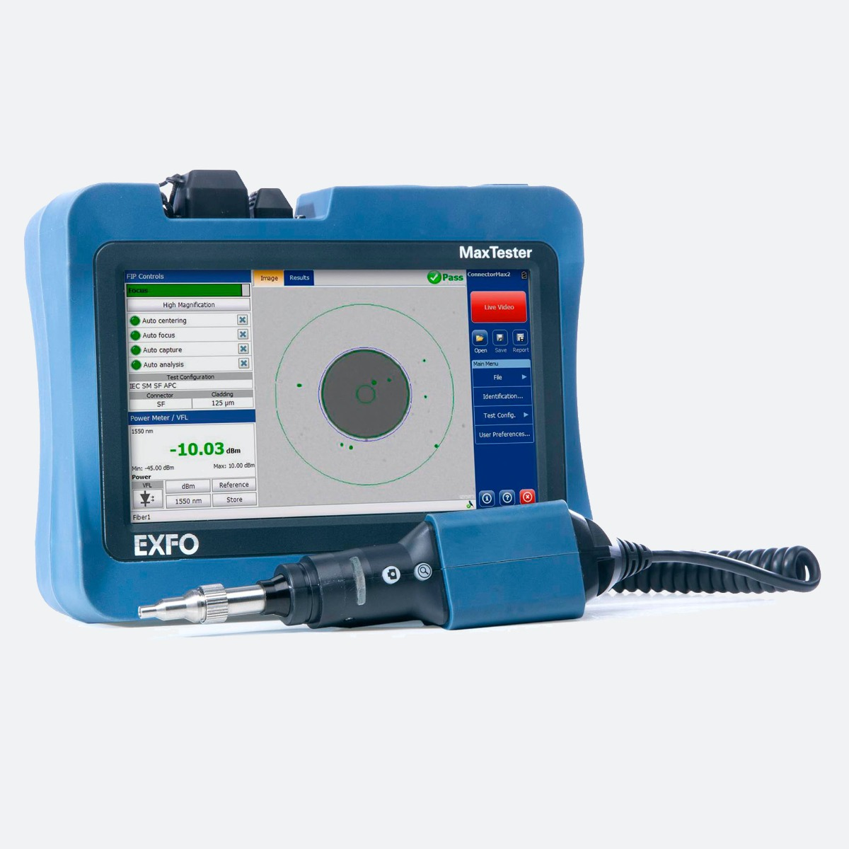 EXFO MAX FIP - Intelligent connector and fiber certifier